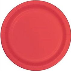 "Amazon.com: Custom & Unique {10"" Inch} 24 Count Multi-Pack Set of Large Size Round Circle Disposable Paper Plates w/ Single Colored Basic Simple Modern Festive Celebration Party ""Pastel Coral Red-Orange Colored"": Kitchen & Dining"