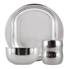 Great for kids! Stainless steel dinner set!
