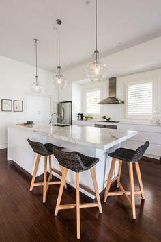 Sandringham Renovation - Kitchen :: Designed by Eat Bathe Live Renovations, Sweet Home, Kitchen Renovation, Interior Renovation, Interior, Dining And Kitchen, Kitchen, Home Decor, Kitchen Cabinets