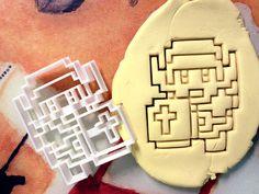 Zelda 8 bit Link Cookie Cutter by CookiePrints, $14.99