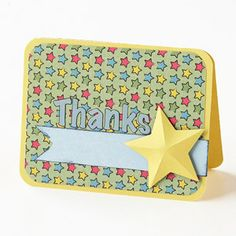 Thanks for your service card.  Rounded corners, create a 3D star