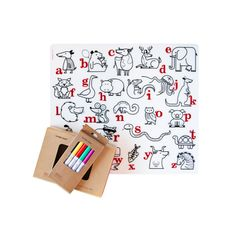 alphabet animals placemats by modern twist