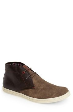 563d86b01  Victor  Suede  amp  Leather Chukka Boot (Men) Leather Chukka Boots