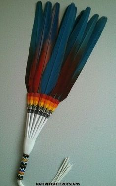 Patrick scott macaw fan ebay find native americans for Where can i buy feathers for crafts
