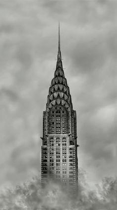 NYC. Chrysler Building. It looks like a beautiful Deco rocket!