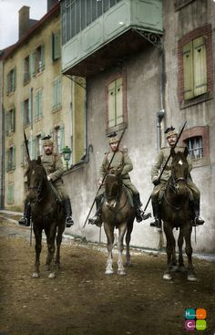 Landwehr-Ulanen-Regiment Nr.20 - One of the few Landwehr Cavalry units. Patrolling the streets of a French town.