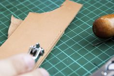 Leather work--tips for even stitches.