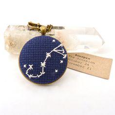 embroidered scorpio pendant! ! ! ! ! ! !