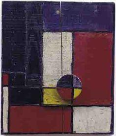 """Joaquín Torres-García, """"Planes of Color with Two Superimposed Wood Pieces"""", 1928"""