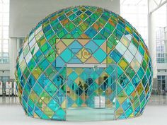 Unique Stand design Gro es Bild Auren Behance Architektur Vignetten Mosaik Exhibition Booth Glass