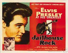 Jailhouse Rock Elvis Presley Vintage Movie Poster