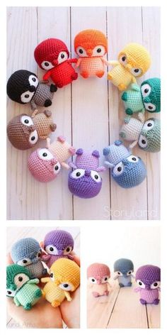Crochet Kawaii, Crochet Cow, Crochet Amigurumi Free Patterns, Crochet Animal Patterns, Cute Crochet, Crochet Crafts, Crochet Projects, Knitting Patterns, Crochet Dragon