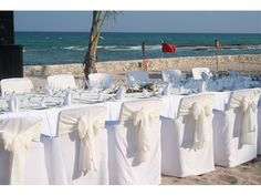 Montaje de bodas en la playa