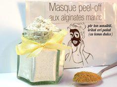 PEEL-OFF MASK - ptr ten sensibil, iritat sau patat (cu lemn dulce) Masque Peel Off, Peel Off Mask, Jar, Blog, Fine Dining, Jars, Drinkware