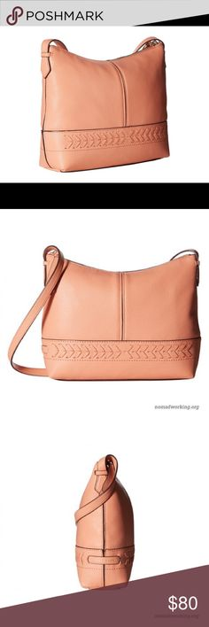 Cole Haan Crossbody Purse Brand new- received as a gift, never used. Made of 100% leather. Zip closure. Adjustable cross-body strap. Interior back-wall zip pocket with additional slip pocket. Bottom Width: 11 in Depth: 2 3⁄4 in Height: 8 1⁄4 in Strap Length: 50 in Strap Drop: 24 in Weight: 12.2 oz This product may have a manufacturer's warranty. Please visit the manufacturer's website or contact us at warranty@support.zappos.com for full manufacturer warranty details. Cole Haan Lacey…