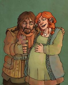 At one point in his life Bofur was very much in love with a dwarf woman. They married and she was soon pregnant and Bofur started learning how to make toys for his child, making as many as he could.Unfortunately there were complications with the birth and mother and baby did not make it. In an attempt to rid the pain Bofur felt he sold off all the toys he had made. And thus he became a toy maker.