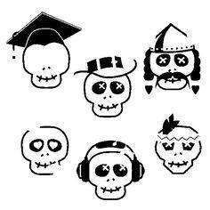 Dibujos de calaveras para colorear en Halloween - printable skull