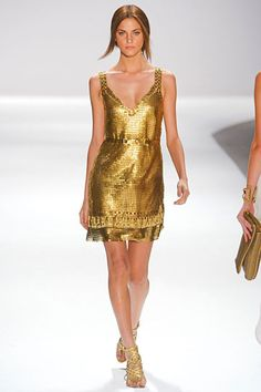 Elie Tahari Spring 2012 = My fav color gold is Spring's #1 color. Me on cloud #9