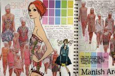 Ideas Fashion Sketchbook Mindmap For 2019 Sketchbook Layout, Textiles Sketchbook, Sketchbook Pages, Sketchbook Inspiration, Sketchbook Ideas, Fashion Sketchbook, Fashion Sketches, Illustration Techniques, Illustration Mode