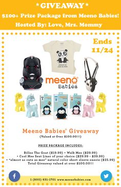 $100+ Meeno Babies Giveaway! 11/24 ~ Tales From A Southern Mom