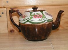 ANTIQUE,PORCELAIN TEAPOT, VERY OLD, MADE BY PRICE BROS, LTD MADE IN BURSLEM/ENGLAND