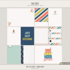 Take Root | Printable Journaling Cards | One Little Bird + Lauren Grier