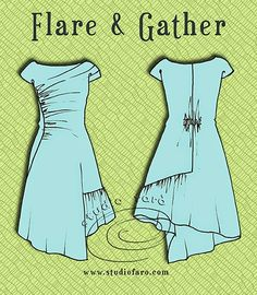 Pattern Puzzle - Flare and Gather Dress - well-suited