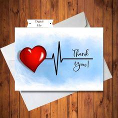 Thank You Card to Medical Team, Nurse's Week Card, Thank You Card for Nurse, Doctor or Medical Staf Nurses Week Quotes, Nurses Week Gifts, Funny Thank You Cards, Thank You Greeting Cards, Diy Doctor, Doctor Quotes, Bee Cards, Thank You Card Template, Mother's Day Diy