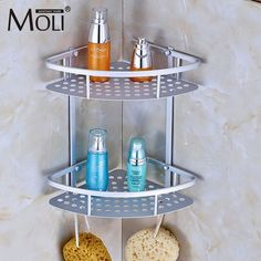 Space Aluminum Bathroom Shelf Shower Shampoo Soap Cosmetic Shelves Bathroom  Accessories Storage Organizer Rack Holder /