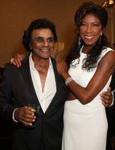 Johnny Mathis and Natalie Cole at the 2014 Carousel of Hope Ball Presented by Mercedes-Benz - VIP Reception