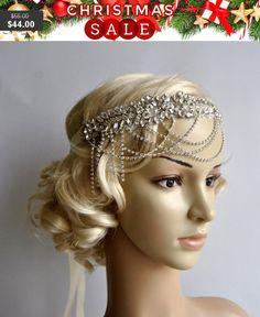 Glamour Rhinestone flapper Gatsby Headband by BlueSkyHorizons