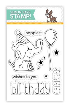 Heidi at Simon Says Stamp is so generous. When you place an order around your birthday they send you a stamp set as a birthday gift (with the code they send you). How cute is this little elephant? Celebration Images, Envelopes, Elephant Birthday, Image Stamp, Happy Wishes, Cat Cards, Tampons, Simon Says Stamp, My Stamp