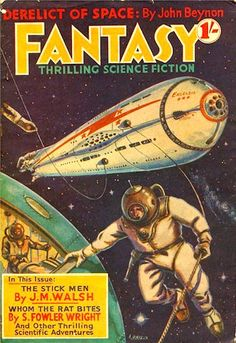1939 Fantasy comic book cover art pulp retro futurism back to the future tomorrow tomorrowland space planet age sci-fi airship steampunk dieselpunk alien aliens martian martians BEMs BEM's