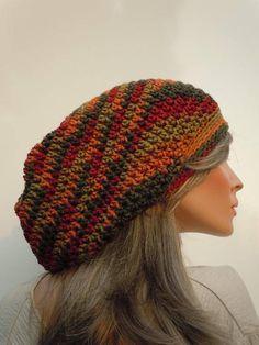 266f0acf97a Autumn Colors Tam Fall Colors Tam Dreadlock Tam Rasta Tam Slouchy Hat