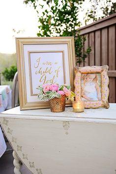 DIY Gold Baptism Sign