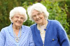 102 year-old Twins    Sisters Ena Pugh (pictured right) and Lily Millward who have just celebrated their 102 birthday. They are officially the oldest twins in the world. The pair both live near Brecon, South Wales