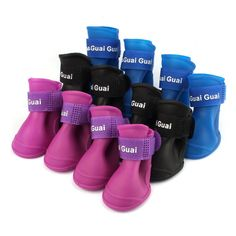 High Quality Dog Candy Colors Boots Waterproof Rubber Pet Rain Shoes Booties #clothing,#shoes,#jewelry,#women,#men,#hats,#watches,#belts,#fashion,#style