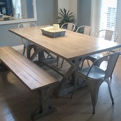 Trestle Dining Table Bench Home Based Furniture Store Servicing The Okangan Including Kelowna West Peachland Penticton Vernon Custom Rustic