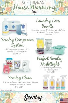 SCENTSY - House Warming Gift Ideas (USD) FLYER CREATED BY BRITTANY GERRITY www.brittanygerrity.scentsy.ca ADMIN OF: No-Nonsense Canadian Flyers Sharing Group