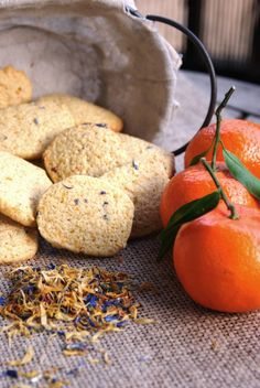 Las recetas de la tata: Galletas de mandarina y pétalos de flores