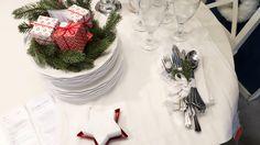 Inspiração à mesa. Por Às 9 no meu blogue.   #Natal #decoração #bloggers #ikeaportugal