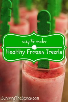 Healthy Frozen Fruit Popsicles!!  Many different ideas for flavor combos!