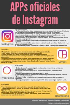 APPs oficiales de Instagram #infografia