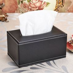 Leather Tissue Box Napkin holder Home Office Car Living Room Cases Cover Container Desktop  Table CFXZJH-4