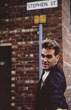 Steven Morrissey with his producer, Stephen Street