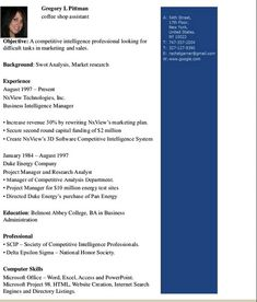 Coffee Shop Assistant Resume Template Will Give Ideas And Provide As  References Your Own Blank Resume Format Template. There Are So Many Kinds  Inside The ...