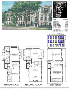 Townhouse plan d9132 lots 1 4 plans pinterest for 4 unit townhouse plans