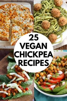 25 Easy Chickpea Recipes. Healthy Vegan Chickpea Recipes from curries, soups, and stews to bowls and pasta. Easy and delicious. Gluten-free and soy-free options. #veganricha #vegan #chickpeas