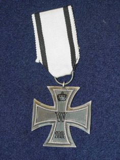 Front side of the Imperial German Noncombatant Iron Cross.  The Iron Cross (German: Eisernes Kreuz ) was a military decoration of the Kingdom of Prussia, and later of Germany, which was established by King Friedrich Wilhelm III of Prussia and first awarded on 10 March 1813 in Breslau. In addition to the Napoleonic Wars, the Iron Cross was awarded during the Franco-German War, the First World War, and the Second World War.