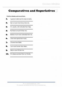 comparatives and superlatives_common mistakes 1